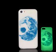luna patrón resplandor en el caso duro oscuro para iphone 5 / iphone 5 s
