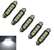 Luces Decorativas Festoon 1.5 W 4 SMD 5050 80-90lm LM Blanco Fresco DC 12 V 5 piezas