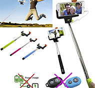 DF Cable Take Pole Extendable Selfie Handheld Monopod Stick Holder for iPhone 4/4S/5/5S/6/6Plus(Assorted Colors)