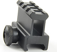 "0.83"" High See-through See-thru Design 3-Slot Med-Profile Super Compact Riser Mount Picatinny/Weaver Rails 08S3"