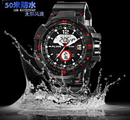 Men's Sport Watch Japanese Quartz Analog-Digital LCD/Calendar/Chronograph/Water Resistant/Three Time Zones