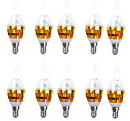 10PCS 3W 10-SMD 2835 200LM 6000K/3000K LED Light  LED Candle Bulb