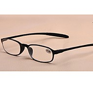 [Free Lenses]  Rectangle Full-Rim Reading Glasses