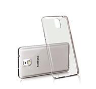 capa de silicone para trás transparente para Samsung Galaxy Nota 3