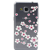 Pink Flowers Pattern TPU Diamond Relief Back Cover Case for Samsung Galaxy Prime G530