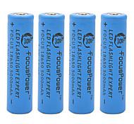 4.2v poder foco 5000mah 18650 batería de iones de litio recargable (4pcs)