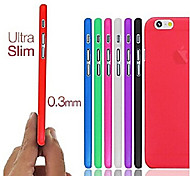 caso mate ultra delgada sólida para el iphone 6 (colores surtidos)