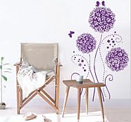фиолетовый цветок мотив ПВХ стикер стены