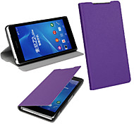 PU Leather Magnetic Ultra-thin Flip Cover Wallet Card Slot Case Stand Skin Cover for Sony Xperia Z2 (Assorted Colors)