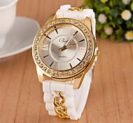 женская мода Римский номер алмазов цепи кварцевые аналоговые часы (разных цветов)