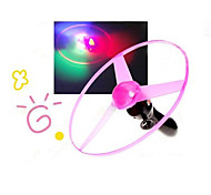 Flashing Flying UFO Saucer Pull String Toy