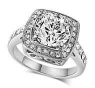 Statement Rings Crystal Simulated Diamond Alloy Fashion Luxury Jewelry Silver Golden Jewelry Wedding Party 1pc