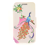 Kinston® Rose Peacock Diamond Paste Pattern PU Leather Full Body Case with Stand for Sony Xperia Z3