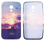 Sunset Glow Glitter Pattern TPU Soft Case for Motorola G2