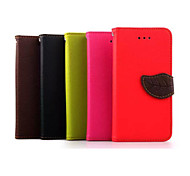 Leaf Pattern 5 Inch PU Wallet Leather Case for Samsung Galaxy Grand Prime G530H
