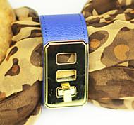 Fashion Women's Leather Golden Buckle Bracelet