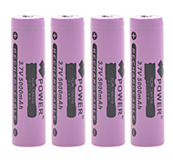 Power 3.7V 5000mAh 18650 Rechargeable Lithium Ion Battery(4pcs)