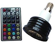 1pcs SchöneColors E14 4W 1X3W LED Dimmable/32Keys Remote-Controlled/Decorative RGB LED SpotLights AC 85-265 V