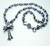 Men's Cross Pattern  Titanium Necklace