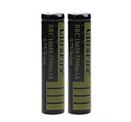 ullra 3.7v 5500mAh fira 18650 batería de iones de litio recargable (2pcs)