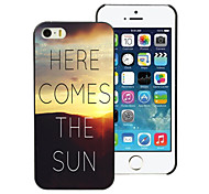 zonsopgang vormgeving pc harde case voor iPhone 4 / 4s