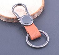 alliage de zinc et de la chaîne de clés en cuir (1 ps)