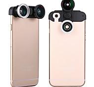apexel 4-en-1 lentille de l'oeil de poisson 2 + 2 en 1 macro large et kit de lentille de la caméra de téléphone de l'objectif grand angle