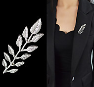 2015 Silver Plated Simple Leaf China Wholesale Brooches