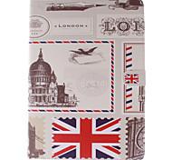 Vintage Postkarte pu Ganzkörper-Fall mit Ständer für iPad 2 Luft