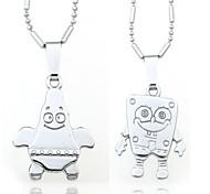 Vilam® Zinc Alloy Rhinetone Cartoon Cute Love Couple Necklaces 2pcs Best Friends Necklaces