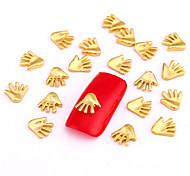 10PCS Gold Nail Art Jewelry Golden Hand Finger Aryclic Nail Tips Decorations Nail Art Glitters for Nails
