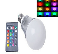 1 pcs  E14 10 W X High Power LED 450-950 LM  RGB/Color-Changing Dimmable Globe Bulbs AC 220 V