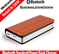 Business Portable Stereo Bluetooth Speaker W/Power Bank Charger Play Mode Bluetooth Micro SD Aux for Smartphone 2015new