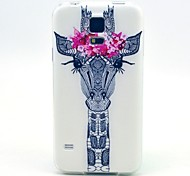 Deer With Flowers Pattern TPU Soft Case for S5 I9600