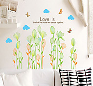 Wall Stickers Wall Decals, Natural Green Plants PVC Wall Stickers