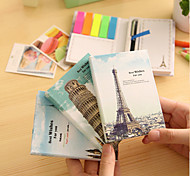 Places of Interest Creative Notebooks Cute/Business/Multifunction Paper Self-Stick Notes With Pen (Random Color)