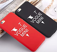Vogue Mini Phrase Silicone Soft Back Cover Case for iPhone 6(Assorted Colors)