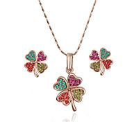 arinna joyería de la manera mujeres de 18 quilates chapado en oro rosa color de la flor pendientes del collar de regalo g1352 # 1