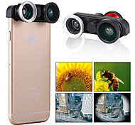 Apexel  4-in-1 2 Fish Eye Lens + 2 in 1 Macro Lens and Wide Angle Lens Phone Camera Lens Kit for iPhone 6 4.7""