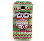 Tribal Owl  Pattern TPU Soft Case for Samsung Galaxy J1