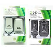 5 en 1 usb batería 4800mah&kit de cable del cargador para xbox-360