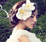 Damen Satin Netz Kopfschmuck-Hochzeit Besondere Anlässe Kopfschmuck Blumen 1 Stück