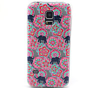 Emboss Cartoon Soft TPU Colored Drawing Diamonds Back Cover Case for Samsung Galaxy S5 mini