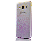 Flowers Pattern Slim Gradient Printing TPU Material Mobile Shell for Samsung Galaxy A5(Assorted Colors)