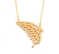 Fashion 316L Stainless Steel Hollow Butterfly Pendant Necklace