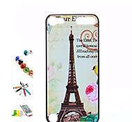 Pylon Pattern Painted PC Shell And Touch Pen Dust Plug Bracket Combination for iPod Touch 5