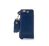 4.7 Inch Lanyard Card PU Leather Case with Kickstand for iPhone 6 (Assorted Colors)