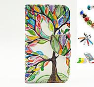 albero modello PU multifunzionale coperture del telefono cellulare e penna stilo staffa spina della polvere per il iphone 4 / 4s