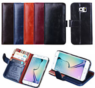 High-Grade Printing Line Manual Car Crazy Ma Wen Card Holder Holster for Galaxy S6 Edge