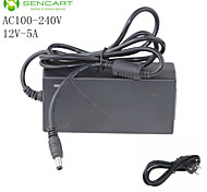 LED Light Bar Adapter Input AC100-240V 50/60HZ Output DC12V 5A Switching Power Supply  European Standard Plug